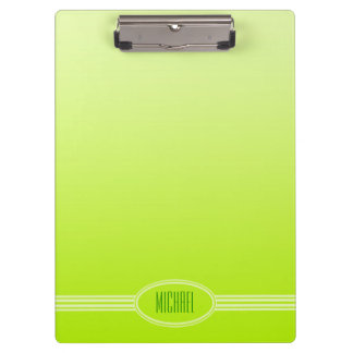 ONLY COLOR gradients spring green + your text Clipboards