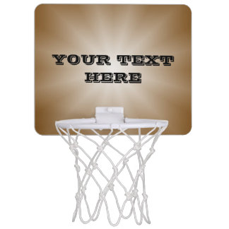 Only Color Gradients Star - brown + your text Mini Basketball Hoop
