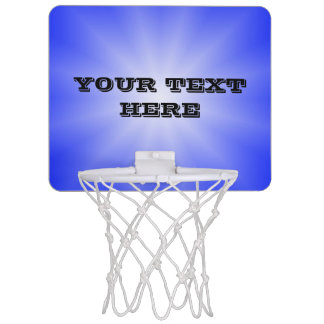 Only Color Gradients Star - royal blue + your text Mini Basketball Hoop
