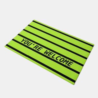 ONLY COLOR STRIPES - spring green + your backg. Doormat