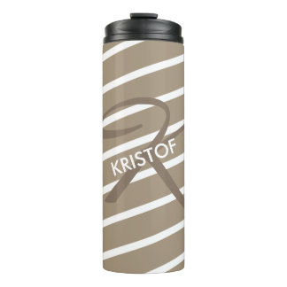 ONLY COLOR STRIPES - stone + your backgr. & ideas Thermal Tumbler