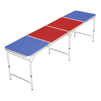 Only Colour Background - blue red + your ideas Beer Pong Table