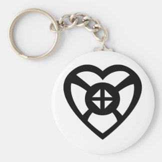 Onyankopon Adom | Symbol for Hope and Faith Basic Round Button Key Ring