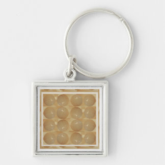 ONYX Marble Balls - Golden Wheat Jewels Key Ring