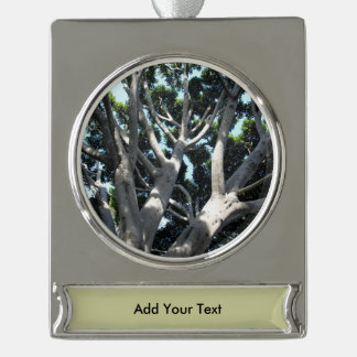 oOld Fig Tree Silver Plated Banner Ornament