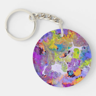 Opal Abstract Double-Sided Round Acrylic Key Ring