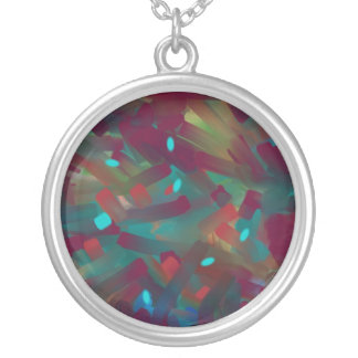Opal Colours>Round Necklce Silver Plated Necklace