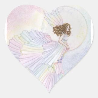 Opal Heart Sticker