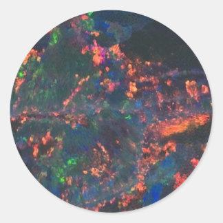 opal night classic round sticker