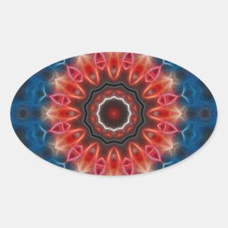 Opal Oval Sticker