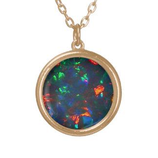 Opals Black Fire Opal Jewelry Pendant Necklace
