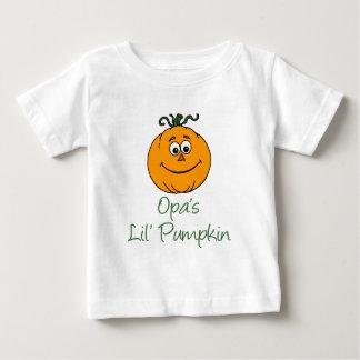 Opa's Little Pumpkin Baby T-Shirt