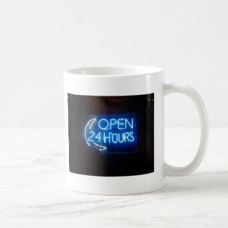 Open 24/7 basic white mug