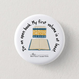Open Book Small White Button