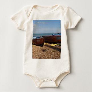 Open Fishing Boats Baby Bodysuit