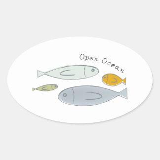 Open Ocean Oval Sticker