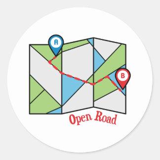 Open Road Classic Round Sticker