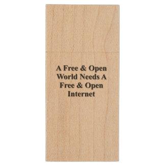 Open Web Wood USB 3.0 Flash Drive