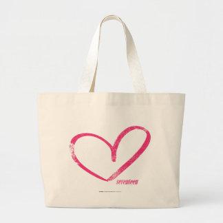 OpenHeart Magenta Large Tote Bag