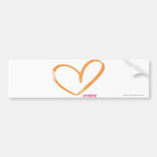 OpenHeart Orange Bumper Sticker