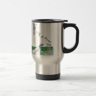 Opening Bat - cricket, tony fernandes Travel Mug