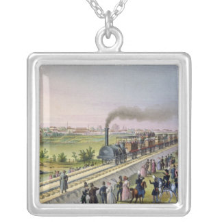 Opening of the First Railway Line Silver Plated Necklace