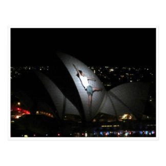 opera house vivid dance postcard