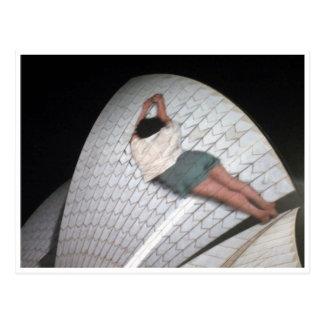 opera house vivid lady post card