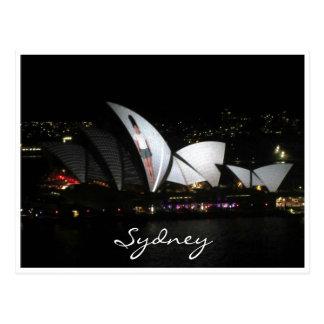 opera house vivid sail post card
