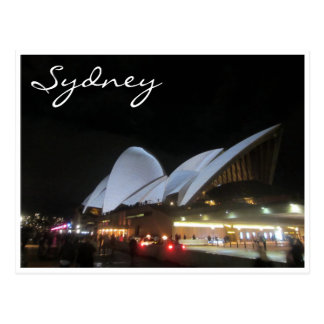 opera house vivid white postcard