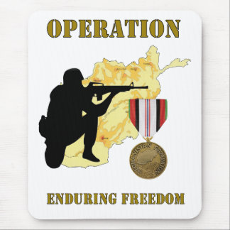 Operation Enduring Freedom Afghanistan War Mousepa Mouse Pad