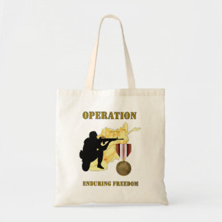 Operation Enduring Freedom Afghanistan War Tote Ba Budget Tote Bag