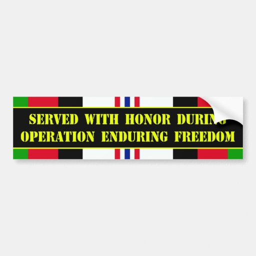 Operation Enduring Freedom Bumper Stickers