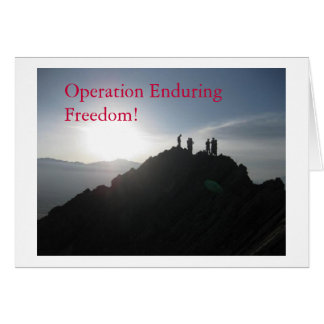 Operation Enduring Freedom! Cards