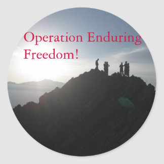Operation Enduring Freedom! Classic Round Sticker