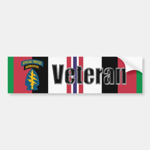 Operation Enduring Freedom Veteran Special Forces Bumper Sticker