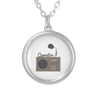 Operator Round Pendant Necklace