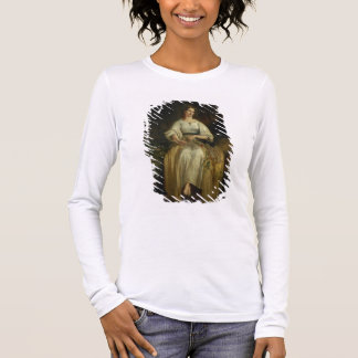 Ophelia weaving her garlands, 1842 (oil on panel) long sleeve T-Shirt