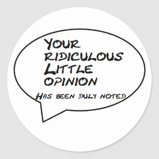 opinion classic round sticker