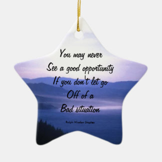 Opportunities and bad situation ceramic star decoration
