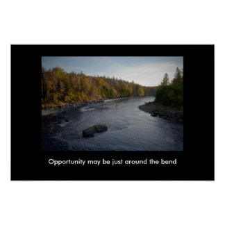 Opportunity Around The Bend motivational print