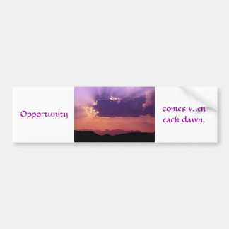 Opportunity at dawn by tdgallery car bumper sticker