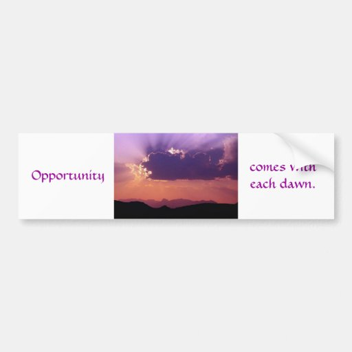 Opportunity at dawn by tdgallery bumper sticker