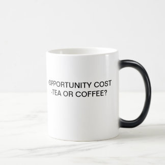 OPPORTUNITY COST - TEA OR COFFEE? MAGIC MUG