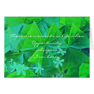 Opportunity knocks. greeting card