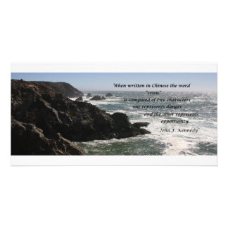Opportunity, quote by John F. Kennedy Photo Card