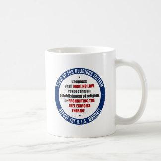 Oppose The HHS Mandate Basic White Mug