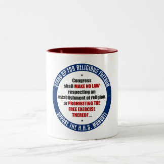 Oppose The HHS Mandate Two-Tone Mug