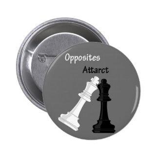 opposites attract 6 cm round badge