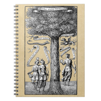 Opposites United by Conjunction in Alchemy Spiral Note Book